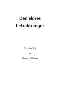 Den eldres betraktninger (ebok) av Rannov Nil