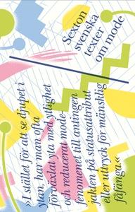 Sexton svenska texter om mode (e-bok) av Salka