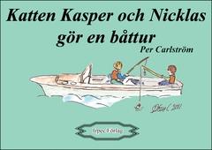 Katten Kasper och Nicklas gör en båttur