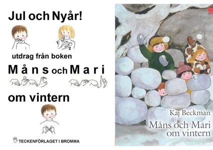 Jul och Nyår - utdrag från boken Måns och Mari