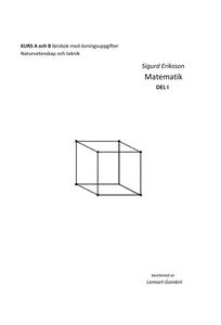 Sigurd Eriksson Matematik DEL I (e-bok) av Lenn