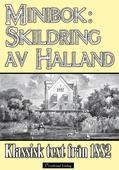 Minibok: Skildring av Halland 1882