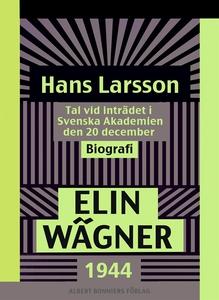 Hans Larsson : Tal vid inträdet i Svenska Akade