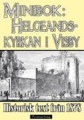 Helgeandskyrkan i Visby - Minibok med text från 1878