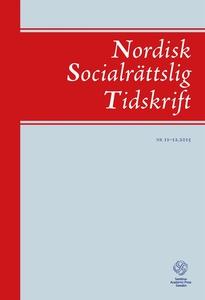 Nordisk Socialrättslig Tidskrift 11-12, 2015 (e