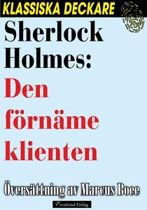 Sherlock Holmes: Den förnäme klienten (e-bok) a