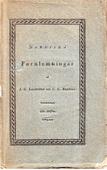 Nordiska fornlemningar III Häftet – Återutgivning  av tidskrift från 1819
