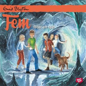 Fem följer ett spår (ljudbok) av Enid Blyton