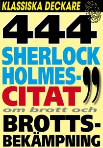 Sherlock Holmes 444 bästa citat om brott och br