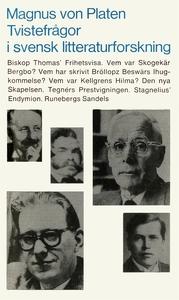 Tvistefrågor i svensk litteraturforskning (e-bo