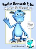 Monster Blue counts to ten  - Monster Blå räknar till 10 - Bilingual Edition