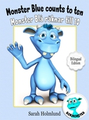Monster Blue counts to ten  - Monster Blå räknar till 10 - Bilingual Edition