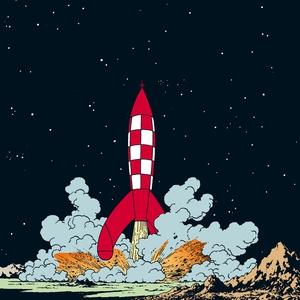 Månen tur och retur (ljudbok) av Hergé,  Hergé