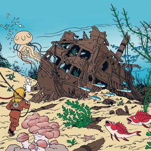 Rackham den Rödes skatt (ljudbok) av Hergé,  He