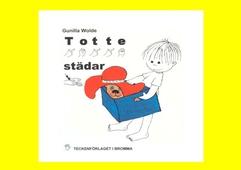 Totte städar 2dra upplagan- Barnbok med tecken för hörande barn