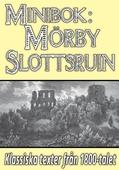 Minibok: Skildring av Mörby slottsruin år 1868 och 1875