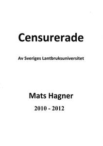 Censurerade av Sveriges Lantbruksuniversitet Ma