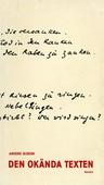 Den okända texten : En essä om tolkningsteori från kyrkofäderna till Derrida
