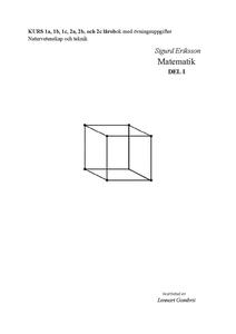 Sigurd Eriksson Matematik del I (e-bok) av Sigu
