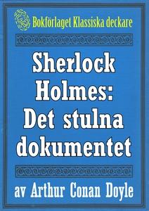 Sherlock Holmes: Äventyret med det stulna dokum