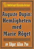 Auguste Dupin: Hemligheten med Marie Rôget – Återutgivning av text från 1938