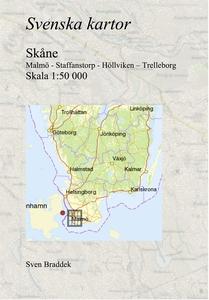 Svenska kartor. Malmö - Staffanstorp - Höllvike