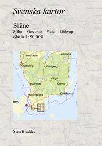 Svenska kartor. Sjöbo  – Onslunda – Ystad – Löd