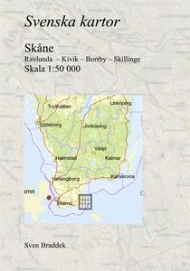 Svenska kartor. Ravlunda  – Kivik – Borrby – Sk