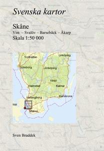 Svenska kartor. Ven  – Svalöv – Barsebäck – Åka