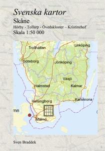 Svenska kartor. Hörby - Tollarp - Övedskloster