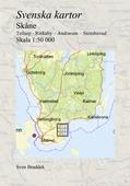 Svenska kartor. Tollarp - Rinkaby – Andrarum – Stenshuvud (Skåne)
