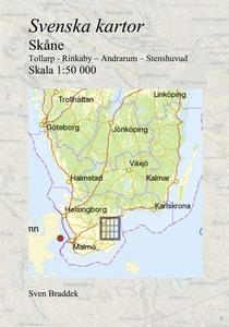 Svenska kartor. Tollarp - Rinkaby – Andrarum –