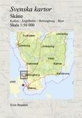 Svenska kartor. Kullen - Ängelholm – Helsingborg – Bjuv (Skåne)