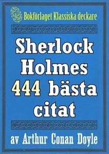 Sherlock Holmes 444 bästa citat om brottsbekämp