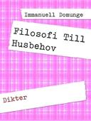 Filosofi Till Husbehov: Dikter