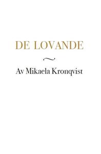 De lovande (e-bok) av Mikaela Kronqvist