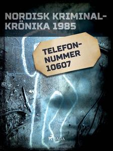 Telefonnummer 10607 (e-bok) av Diverse