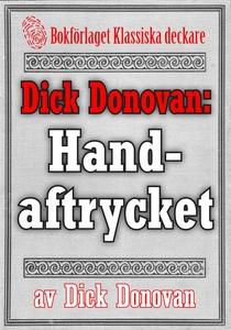 Dick Donovan: Handaftrycket. Återutgivning av t