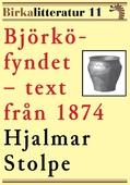 Björkö-fyndet. Redogörelse för undersökningarna under åren 1871–1873. Birkalitteratur nr 11