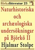 Naturhistoriska och archæologiska undersökningar på Björkö i Mälaren del II. Birkalitteratur nr 23. Återutgivning av text från 1873