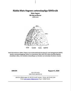 Rädda Mats Hagners vetenskapliga fältförsök (e-