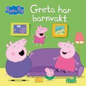 Greta har barnvakt