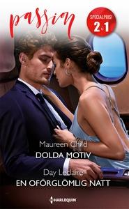 Dolda motiv/En oförglömlig natt (e-bok) av Maur
