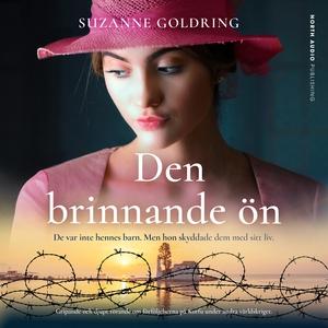 Den brinnande ön (ljudbok) av Suzanne Goldring