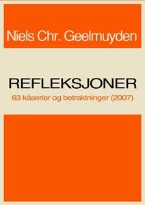 Refleksjoner (ebok) av Niels Chr.  Geelmuyden
