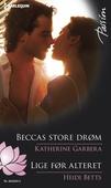 Beccas store drøm/Lige før alteret