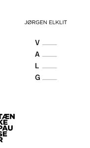 Valg (lydbog) af Jørgen Elklit
