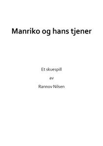 Manriko og hans tjener (ebok) av Rannov Nilse