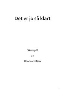 Det er jo så klart (ebok) av Rannov Nilsen