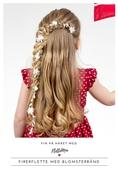 Fin på håret med FletteMia: Firerflette med blomsterbånd